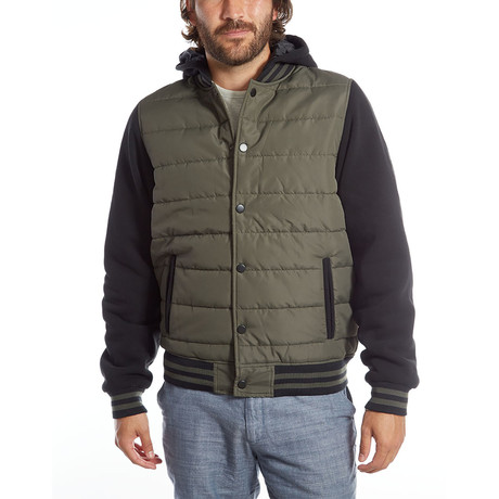 Stanley Quilted Puffer Jacket // Basil (S)