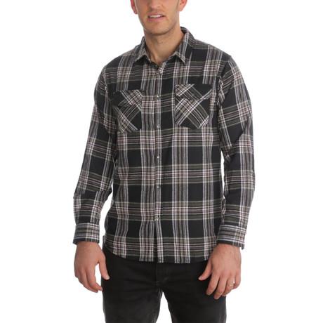 Drew Flannel Shirt // Olive (S)