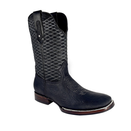 Rodeo Square Boot Bull Shoulder // Black (US: 7EE)