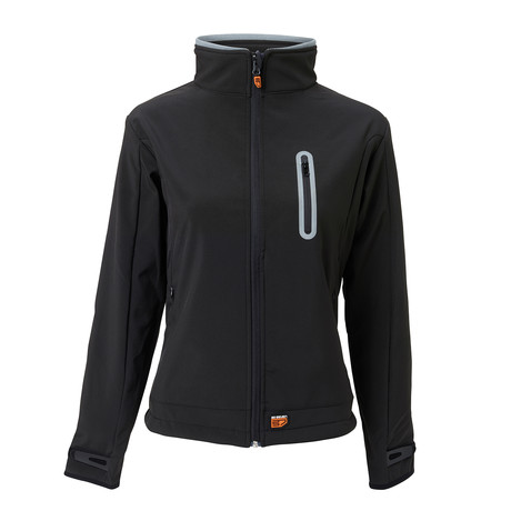 Heated Softshell Jacket Slim Fit // Black (Small)
