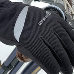 Heated Waterproof Gloves + Comfort Stretch // Black (Medium)