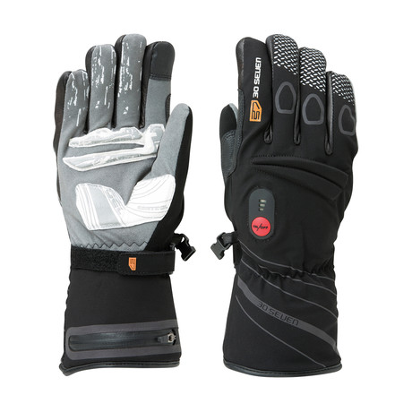 Heated Waterproof Gloves + Grip // Black (2X-Small)