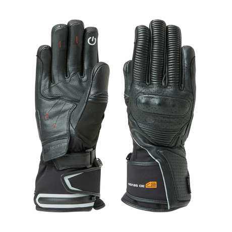 Heated Waterproof Leather Reinforced Gloves // Black (Medium)