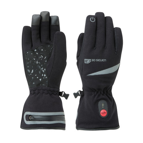 Heated Waterproof Gloves + Comfort Stretch // Black (X-Small)