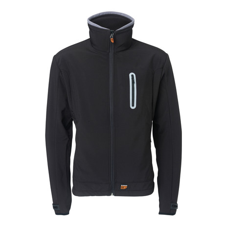 Heated Softshell Jacket Regular Fit // Black (Small)