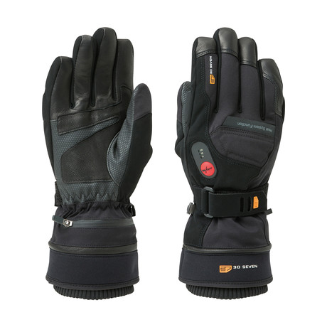 Heated Waterproof Extra Warm Gloves // Black (X-Small)