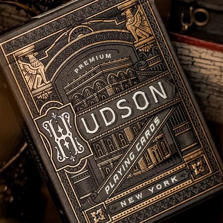 Hudson Playing Cards // Black // Set of 2