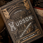 Hudson Playing Cards // Black // Set of 2