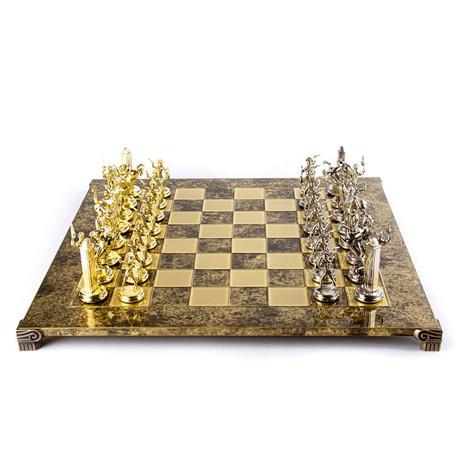 Athenian Hoplites Chess Set // Large Bronze Board