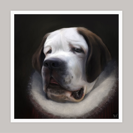 Limited Edition Renaissance Dog Giclee // Rufus (Small)