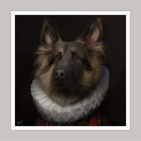 Limited Edition Renaissance Dog Giclee // Shep (Small)