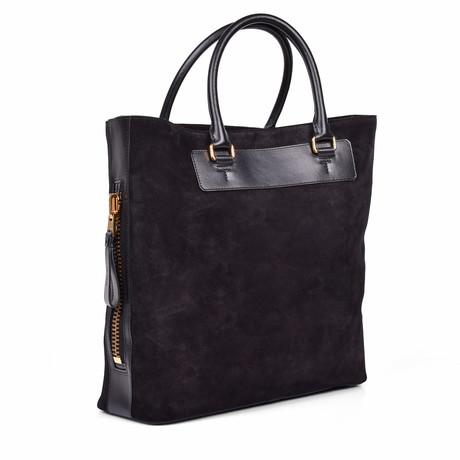 Tote Bag // Suede Black