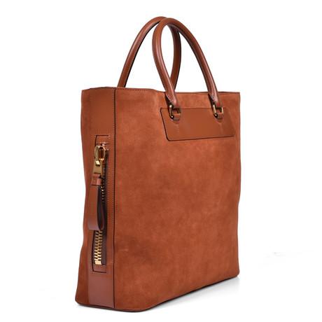 Tote Bag // Suede Brown
