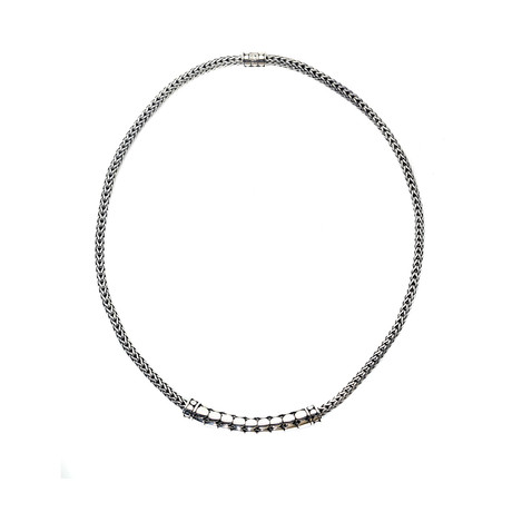 John Hardy Sterling Silver Dot Necklace // Store Display