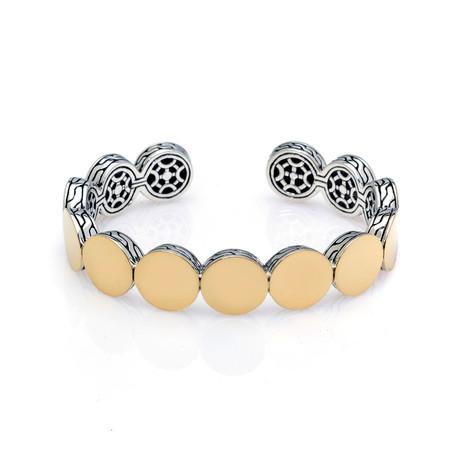 John Hardy Sterling Silver + 18k Yellow Gold Dot Bracelet // Store Display