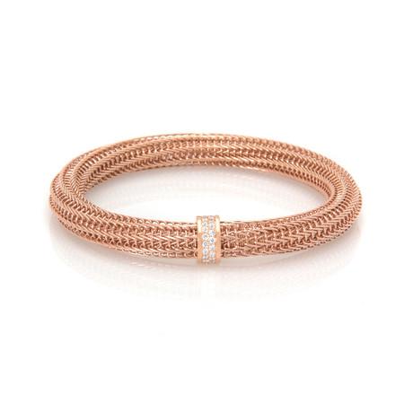 Roberto Coin 18k Rose Gold Diamond Primavera Bracelet // Store Display