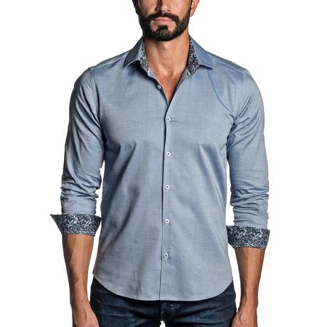 Long Sleeve Button-Up Shirt // Blue (S)