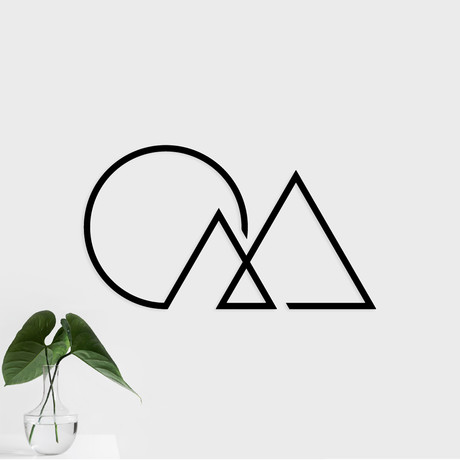 "Triangle Mountain (28.5""W x 16""H x 0.25""D)"