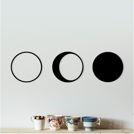 """The Moon's Phases (42""""W x 10""""H x 0.25""""D)"""