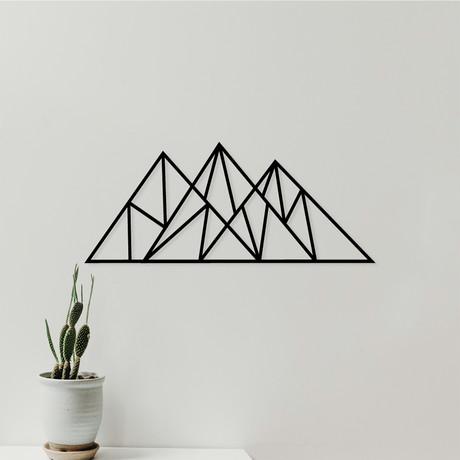 """Geometric Mountain (29""""W x 12""""H x 0.25""""D)"""
