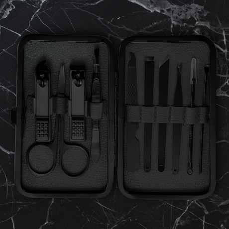 Manicure Set // 10 Pieces (Black)