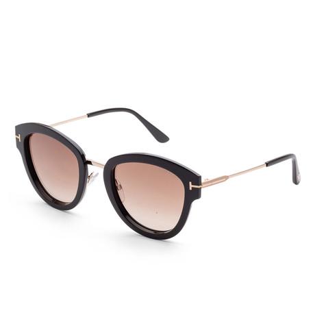 Women's FT0574-14C-52 Mia Sunglasses // Black + Smoke Mirror