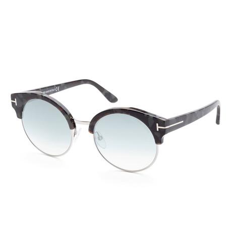 Women's FT0608-55X-54 Jack Sunglasses // Black + Blue Gradient