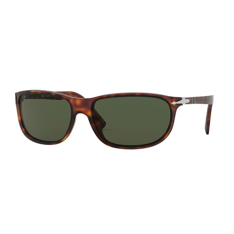 Men's 3222 Wrap Sunglasses // Havana + Green