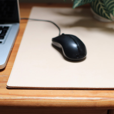 Leather Mouse Mat // Neutral
