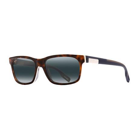 Maui Jim // Men's Eh Brah Rectangle Polarized Sunglasses // Black + Gray