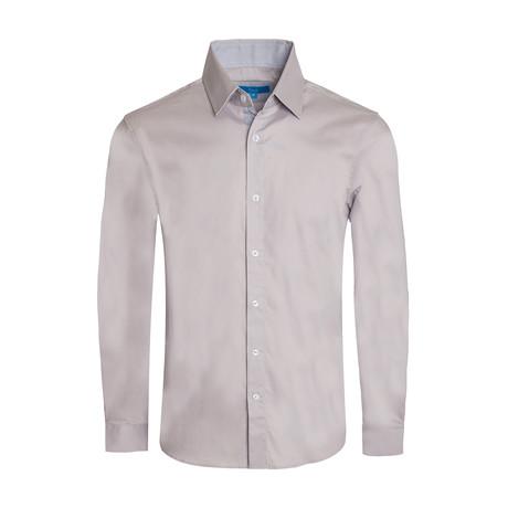 Cotton-Stretch Long Sleeve Shirt // Graphite (S)