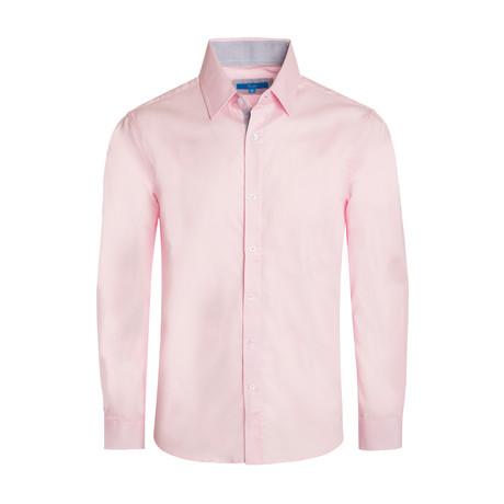 Cotton-Stretch Long Sleeve Shirt // Pink (S)
