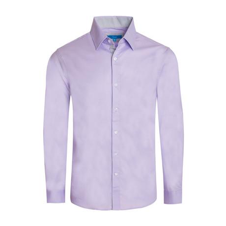 Cotton-Stretch Long Sleeve Shirt // Lavender (S)