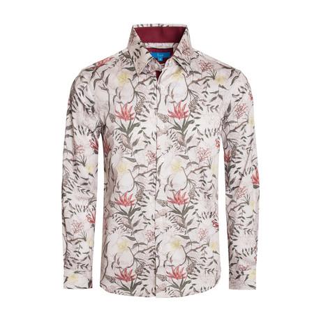 Bologna Floral Long Sleeve Shirt // White (S)
