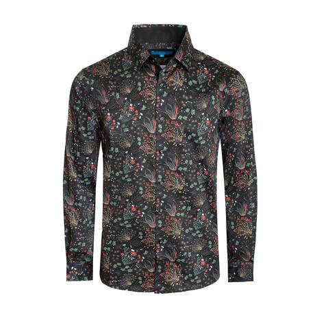 Turin Long-Sleeve Shirt // Black (S)