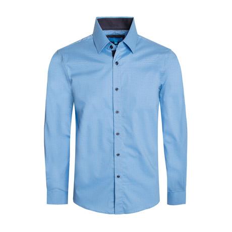 Geometric Pattern Cotton Long Sleeve Shirt // French (S)