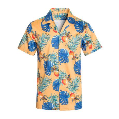 Tropical Sun Cotton Short Sleeve Shirt // Yellow (S)