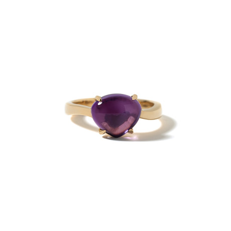 18k Yellow Gold Amethyst Sassi Ring // Ring Size: 6.5 // New