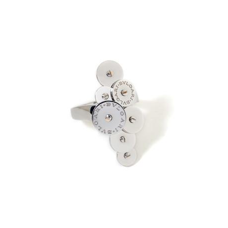 18k White Gold 7 Disc Cicladi Ring // Ring Size: 6.25 // New