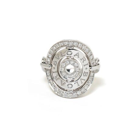 18k White Gold Diamond Astrale Ring // Ring Size: 7 // New