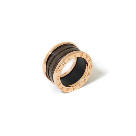 18k Rose Gold + Marble B.Zero 1 Ring // Ring Size: 5.25 // New