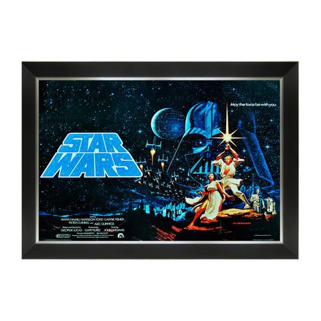Star Wars Ep IV A New Hope // Vintage Movie Poster // Framed Art Print