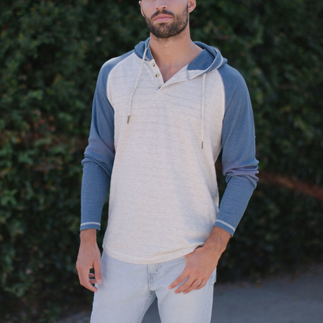 Jude Hooded Pullover // Lake Blue (S)