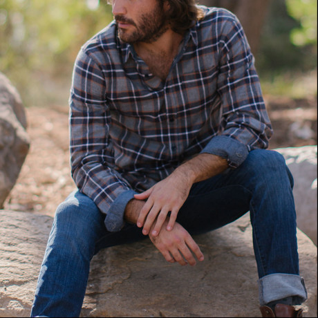 Henry Flannel Shirt // Navy (S)