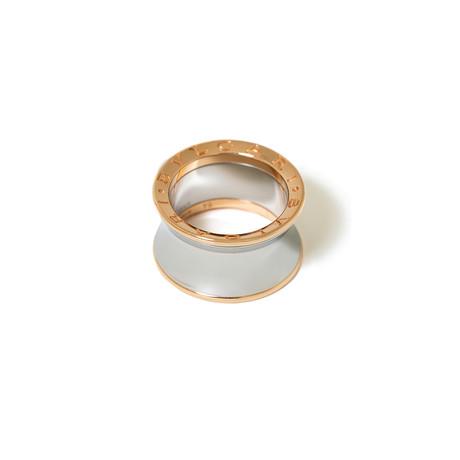 18k Rose Gold + Steel B. Zero 1 Ring // Ring Size: 5.75 // New