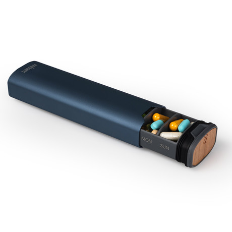 mbarc // Refined 7 Day Pill Organizer // Deep Blue