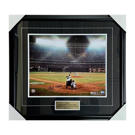 Hank Aaron // Autographed Framed Photo Display