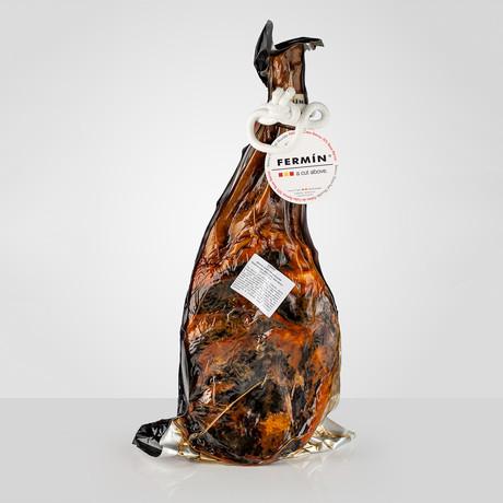 50% Iberico Grain-Fed Bone in + Ham Holder // 11 lb