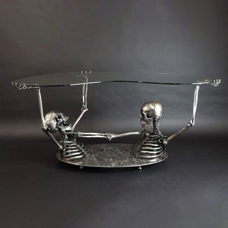 Full Throttle Table // Satin Steel