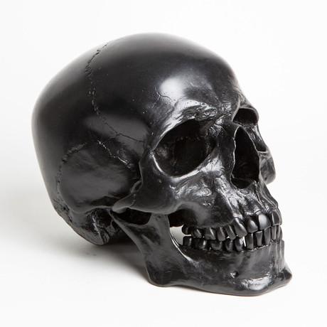 Human Skull // Blackened Steel